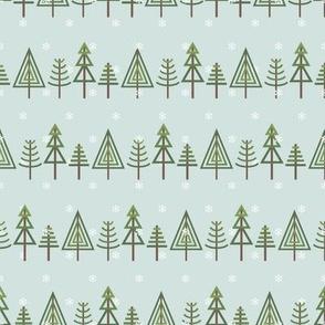 FS Winter Fair Isle Snowy Trees