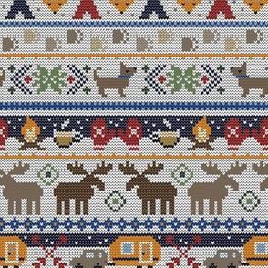 Fair Isle Happy Camper // Winter Wonderland with Woodland Animals