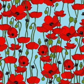 poppy repeat sky