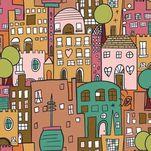 Bright Cityscape