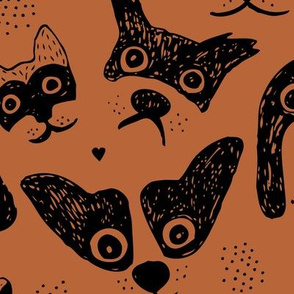 Dogs are awesome cool puppy love animal design black ink on copper JUMBO