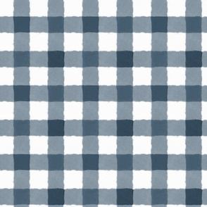 Watercolor Gingham Midnight Blue