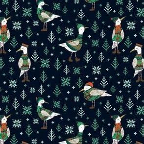 Seagulls in Fairisle jumpers