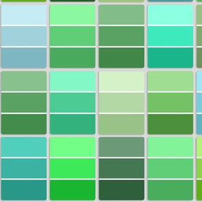 paint chips - greens and teals
