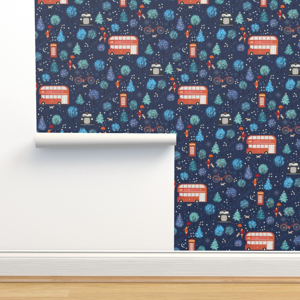 Isobar Durable Wallpaper featuring London Christmas by elena_naylor