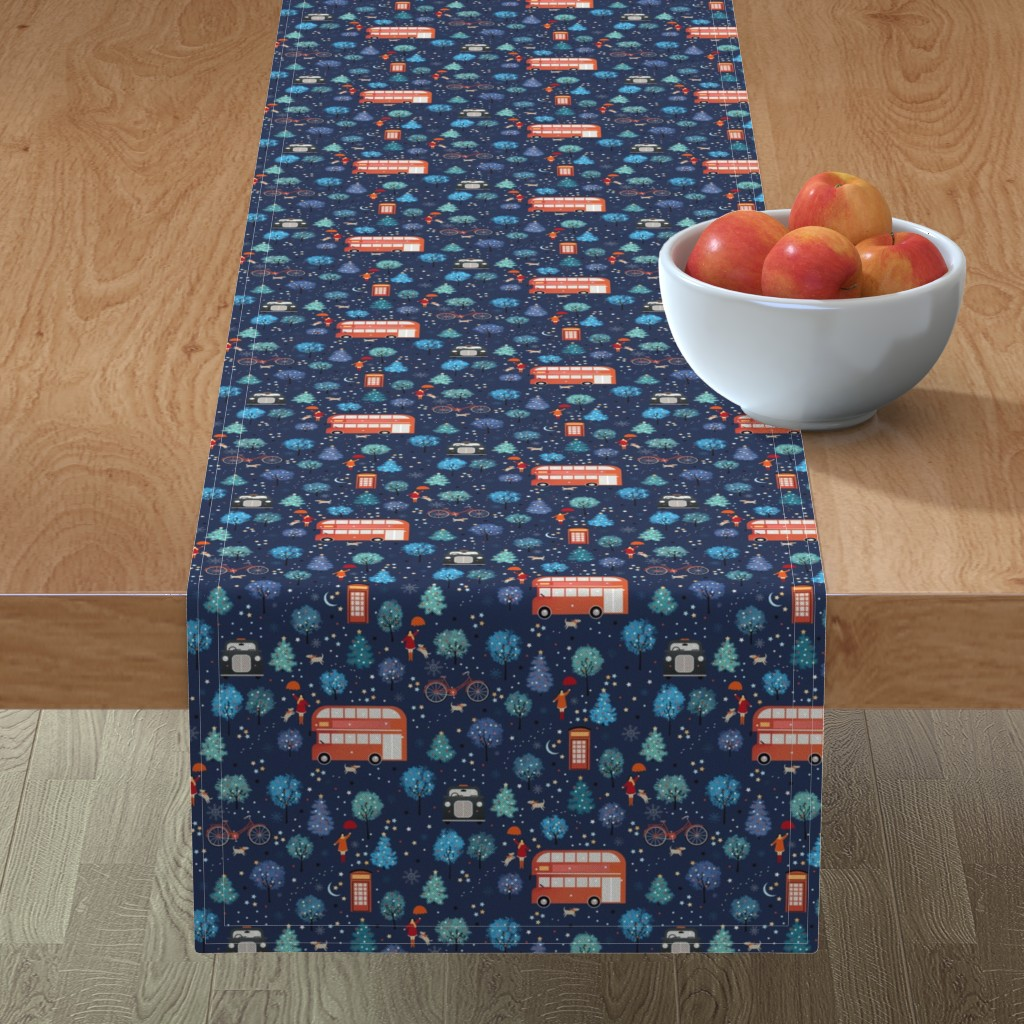 Minorca Table Runner featuring London Christmas by elena_naylor