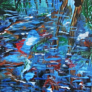 Fotheringate Creek 2016 Acrylic on Canvas