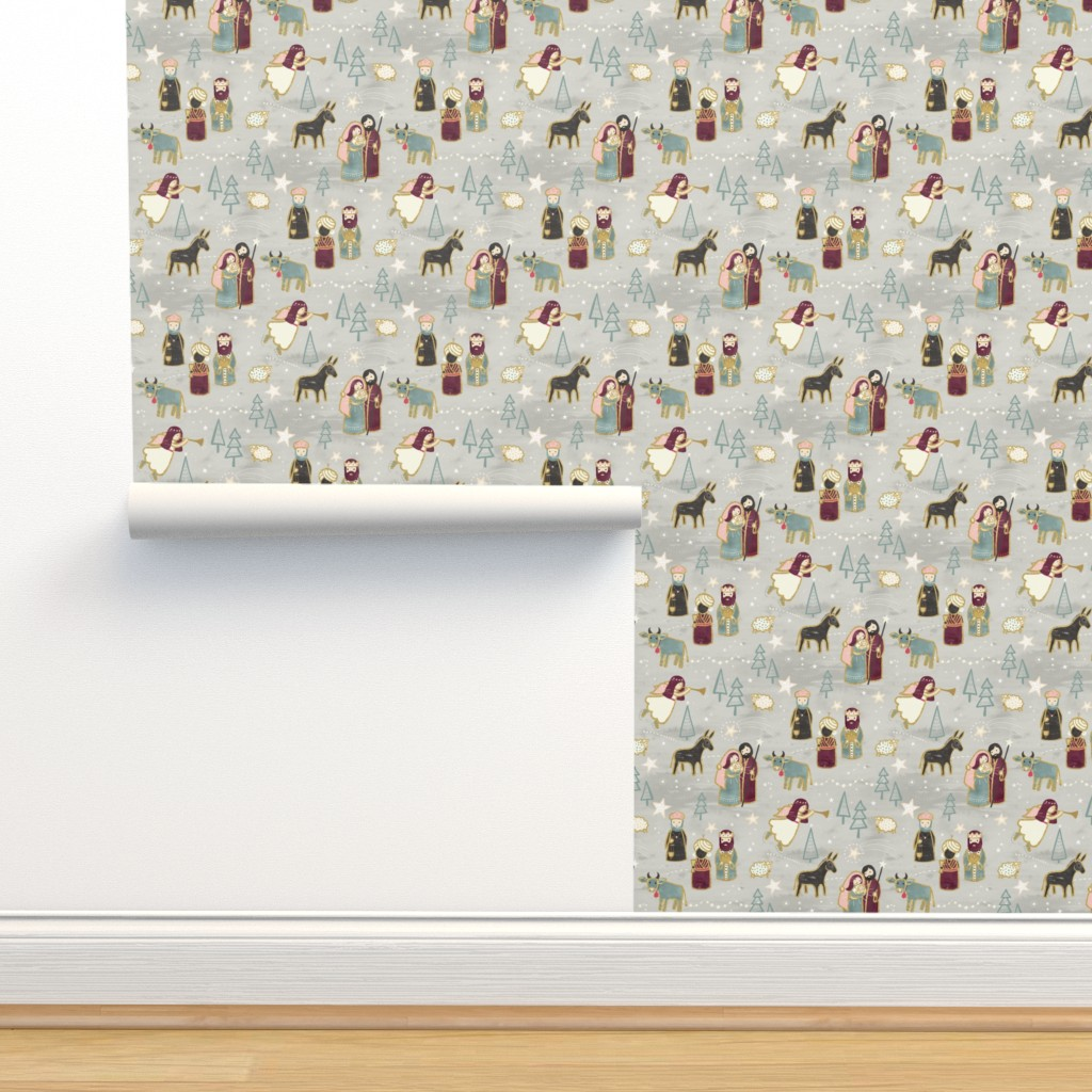 Isobar Durable Wallpaper featuring Nativity - the Birth of Jesus by marketa_stengl