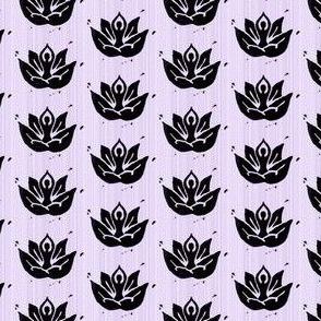 Yoga lotus lavender