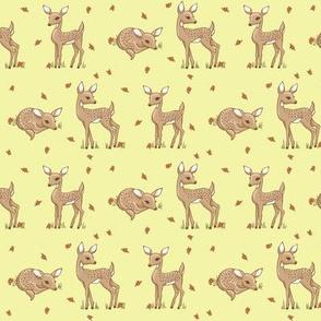 darling deer yellow