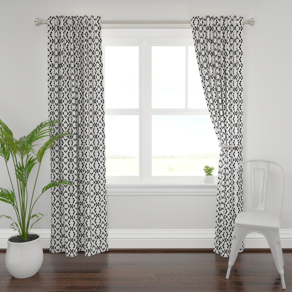 Plymouth Curtain Panel featuring Paint It, Black by gargoylesentry