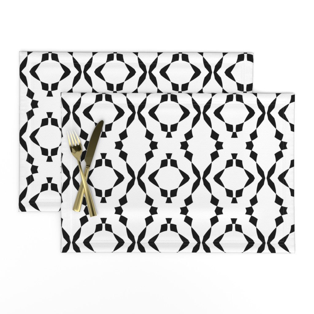 Lamona Cloth Placemats featuring Paint It, Black by gargoylesentry