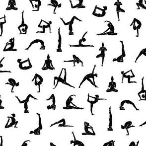 I love yoga white