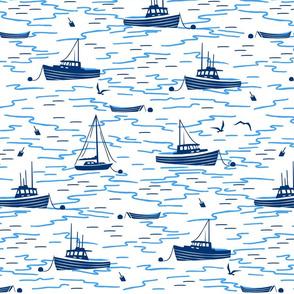 Harbor Boats white large