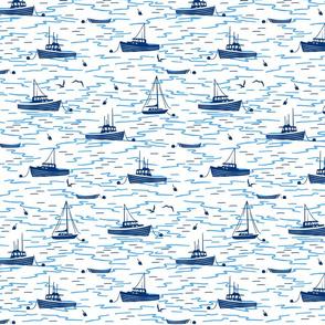Harbor Boats white medium