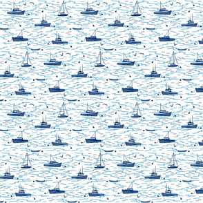 Harbor Boats white small