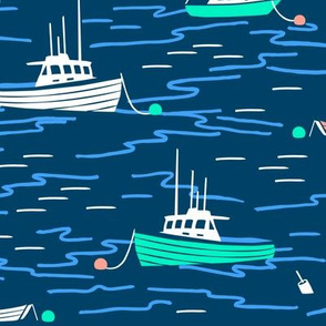 Harbor Boats navy blue large