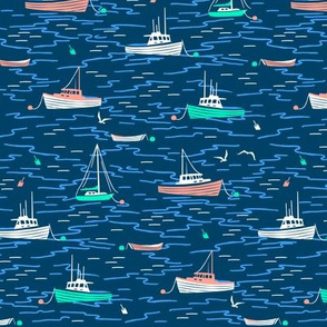 Harbor Boats navy blue small