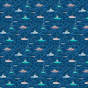 Harbor Boats navy small
