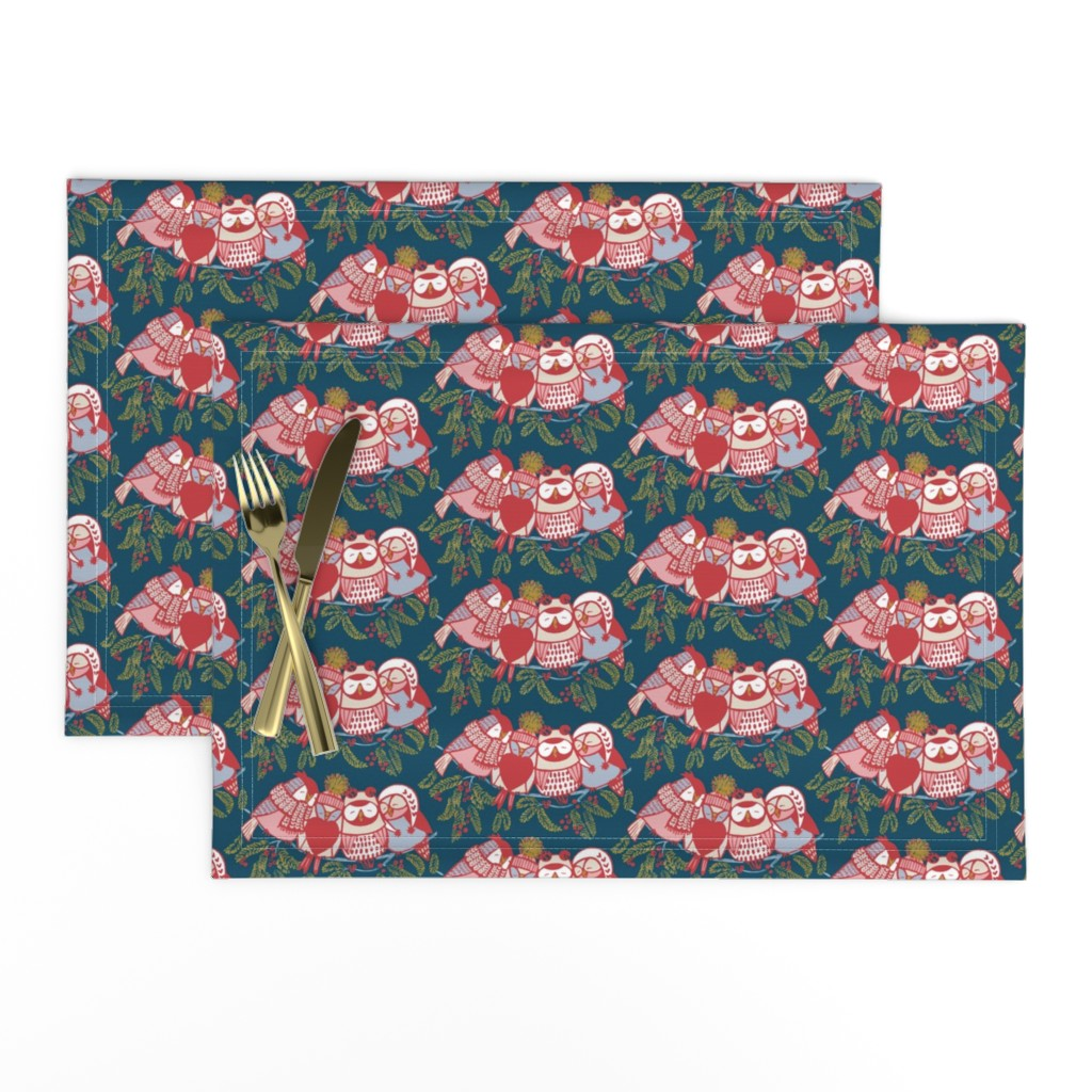Lamona Cloth Placemats featuring LOVE_will_keep_us_warm!//dark by iryna_ruggeri