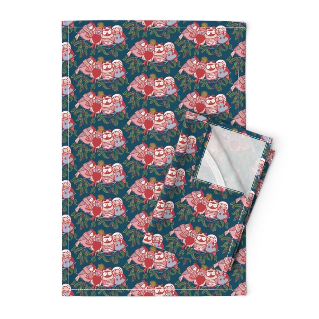 Orpington Tea Towels featuring LOVE_will_keep_us_warm!//dark by iryna_ruggeri