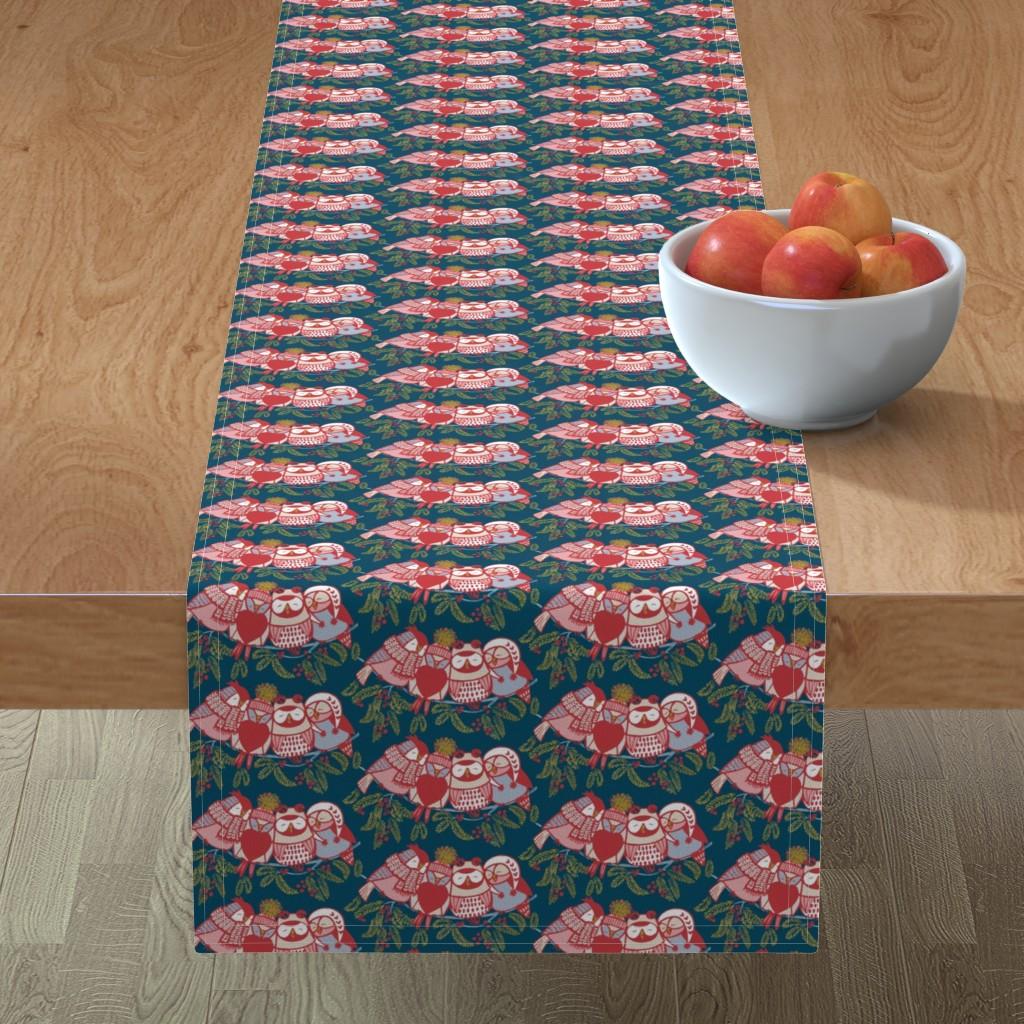 Minorca Table Runner featuring LOVE_will_keep_us_warm!//dark by iryna_ruggeri