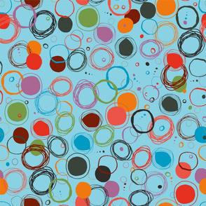 bubbles on blue