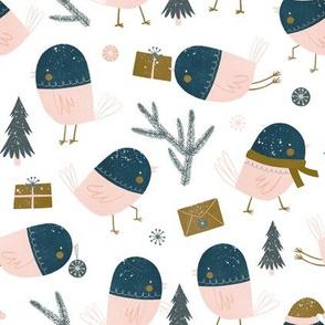 tiny snow birds