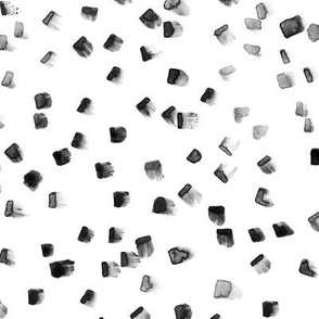 Scandi black-and-white brushstrokes pattern