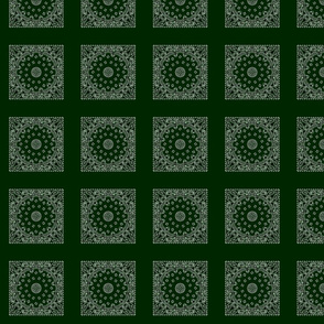 h120s100v014-Bandanna-Paisley Round-Dark Green