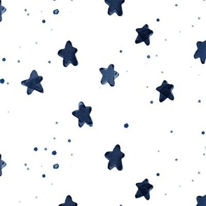 navy watercolor stars