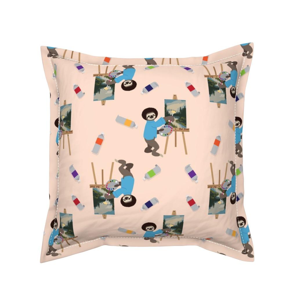 Serama Throw Pillow featuring Bob Sloth by ArtfulFreddy by artfulfreddy