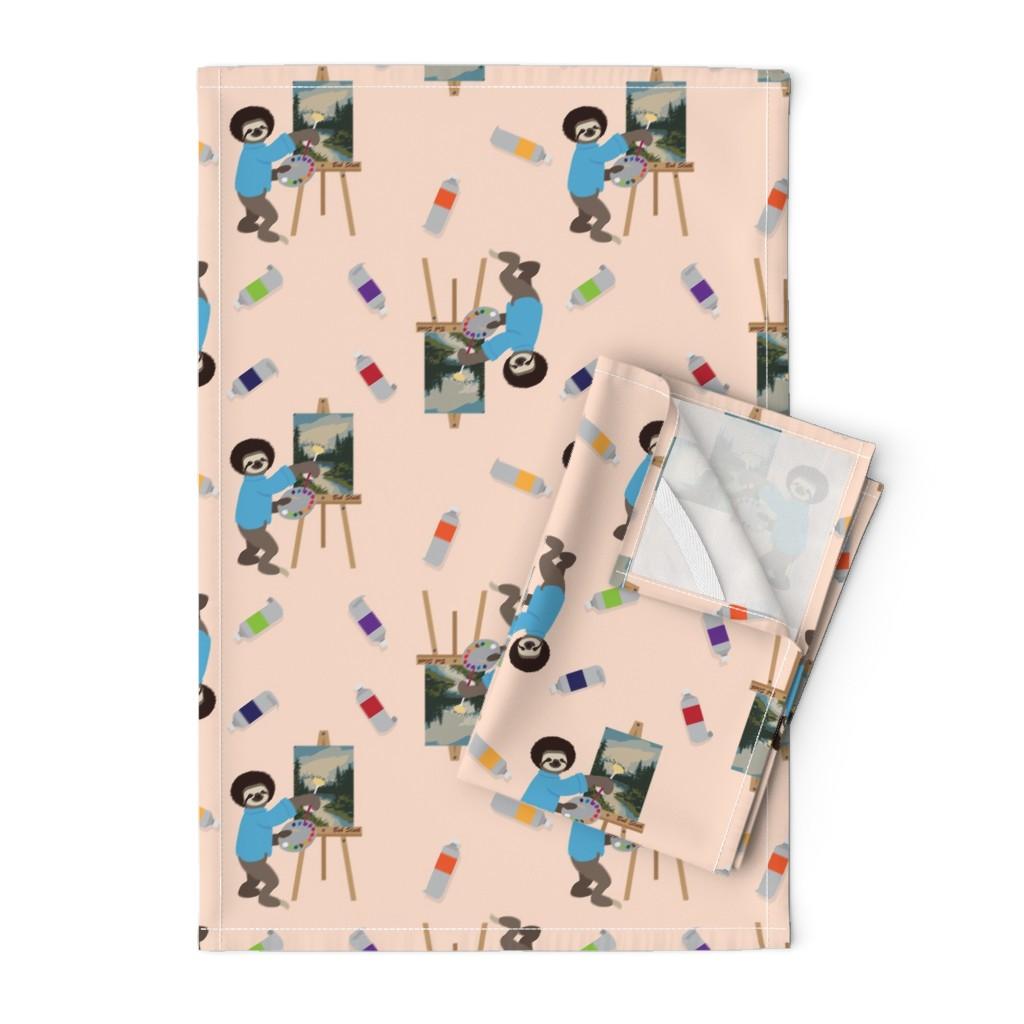 Orpington Tea Towels featuring Bob Sloth by ArtfulFreddy by artfulfreddy