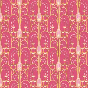1920s Deco Champagne Fountain pink medium