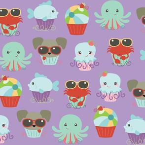 Beach Fun Cupcakes