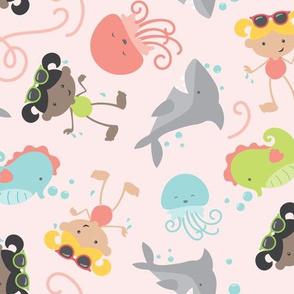 Summer Splash - Swimming, Seahorses, and Sharks