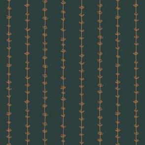 Thyme Pinstripes - dark green