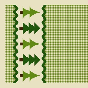 Pine Trees Tea Towel