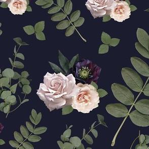 Pressed Floral Plum
