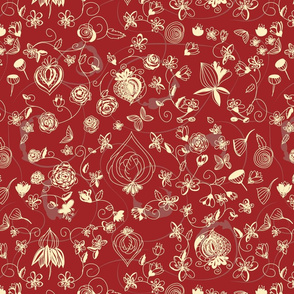 Red and Cream Chinoiserie