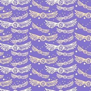 golden wings on ultra violet