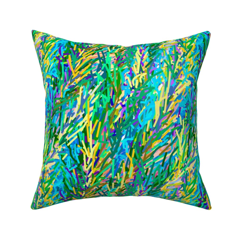 Catalan Throw Pillow featuring Fields of Grain | Artistic Abstract by southwind