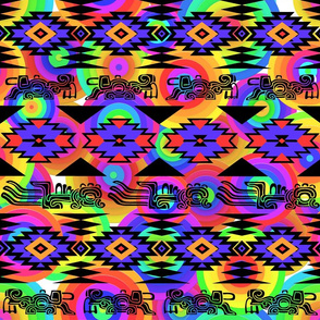 Native American Symbols Aztec Neon