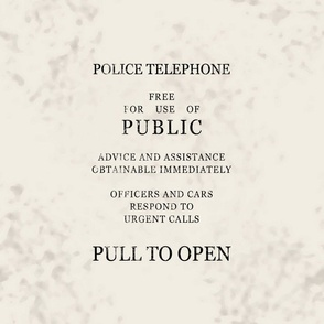 Blue Police Phone Box Sign