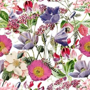 Romantic Vintage Flower Pattern