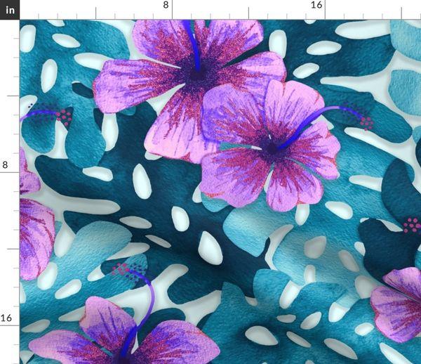 Purple Hibiscus Spoonflower