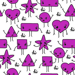 friendly shapes   purple