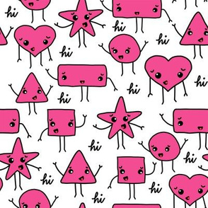 friendly shapes   pink