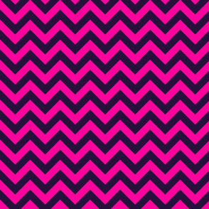 Bold Pink Black Chevron Color Zig Zag Pattern