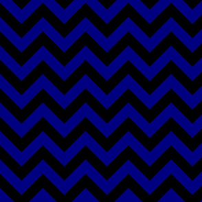 Dark Navy Blue Black Color Chevron Zig Zag Pattern